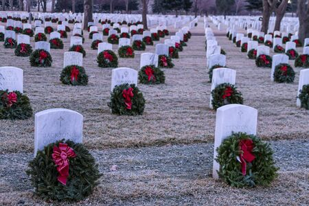 2012 Wreaths Across America at Fort Logan National Cemetery Colorado Stock Photo - 17523557