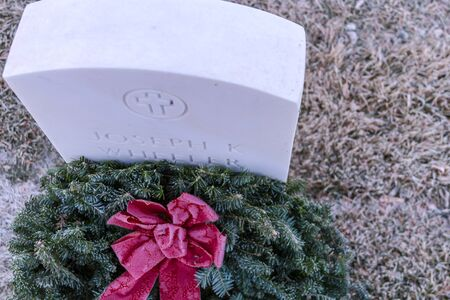 2012 Wreaths Across America at Fort Logan National Cemetery Colorado Stock Photo - 17523519