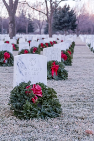 2012 Wreaths Across America at Fort Logan National Cemetery Colorado Stock Photo - 17523535