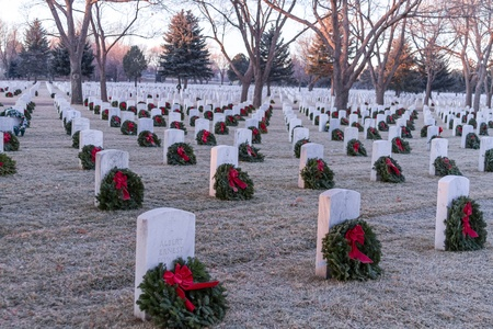 2012 Wreaths Across America at Fort Logan National Cemetery Colorado Stock Photo - 17523567