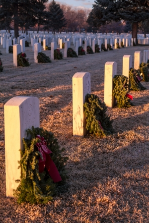 2012 Wreaths Across America at Fort Logan National Cemetery Colorado Stock Photo - 17523558