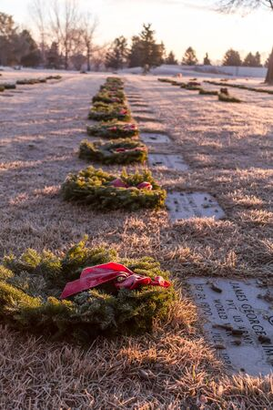 2012 Wreaths Across America at Fort Logan National Cemetery Colorado Stock Photo - 17523547