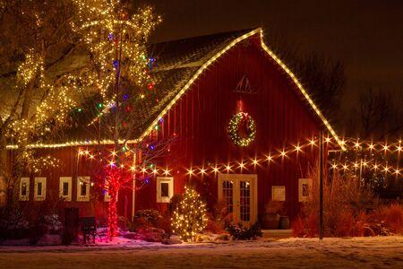 christmas in denver: 2012 Denver Botanical Gardens Trail of Lights Christmas light display at Chatfield