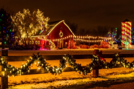 2012 Denver Botanical Gardens Trail of Lights Christmas light display at Chatfield