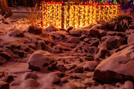 2012 Denver Botanical Gardens Trail of Lights Christmas light display at Chatfield Stock Photo - 17523554