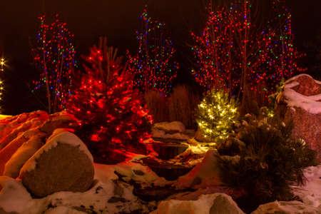 light display: 2012 Denver Botanical Gardens Trail of Lights Christmas light display at Chatfield