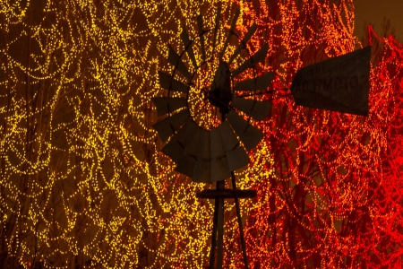 2012 Denver Botanical Gardens Trail of Lights Christmas light display at Chatfield Stock Photo - 17523576