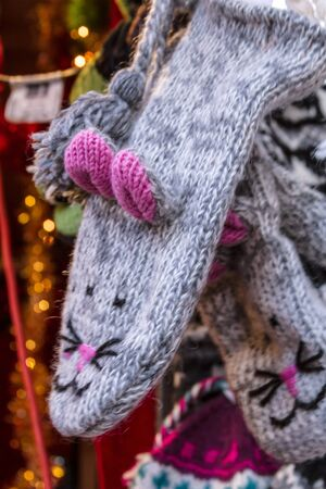 Mittens hanging for sale at the Denver Christkindl Market Stock Photo - 17523586
