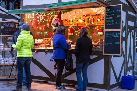 mile high holidays: People enjoying the Denver Christkindl Market