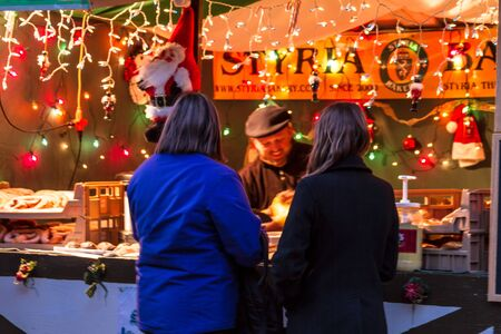 Patrons of the Denver Christkindl Market  Stock Photo - 17523584
