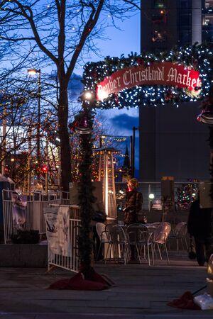 mile high holidays: Entrance to the Denver Christkindl Market