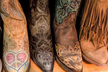 Womens cowboy boots on display photo