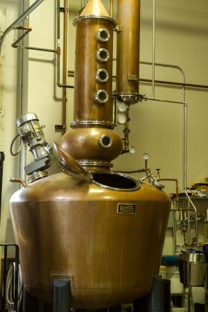 distillery: Breckenridge Distillery copper still to make whiskey and vodka