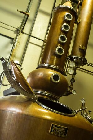Breckenridge Distillery copper still to make whiskey and vodka