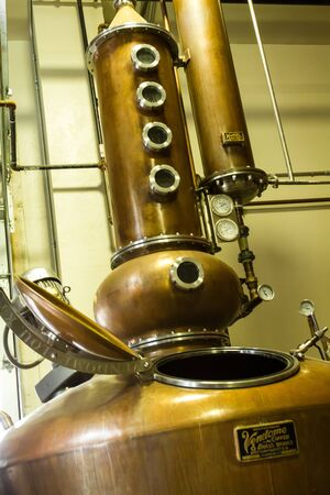 Breckenridge Distillery copper still to make whiskey and vodka