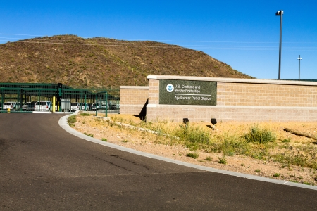 US Customs and Border Protection facility at the international border of US and Mexico, Ajo Border Patrol Station
