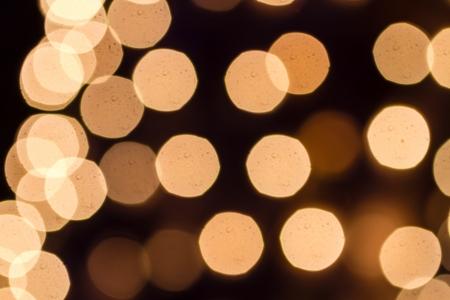 Abstract circular bokeh background of white Christmas lights