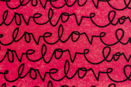 black textured background: Red and black textured background with handwritten love text