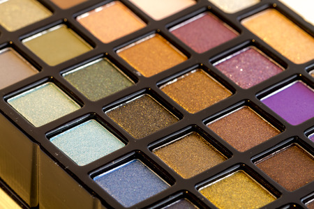nudes: Colorful palette of eye shadows in shimmering colors