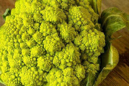 Head of broccoli romanesco cauliflower