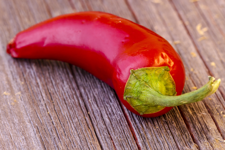jalapeno: Close up of single red jalapeno pepper Stock Photo