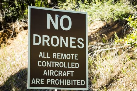 remote controlled: Warning sign for no drones or all remote controlled aircraft