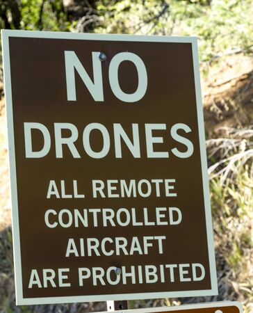 remote controlled: No drones and all remote controlled aircraft sign Stock Photo