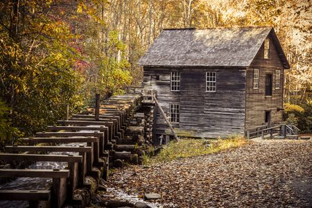 great smokies: Historic Mingus Mill in Great Smoky Mountains National Park Stock Photo