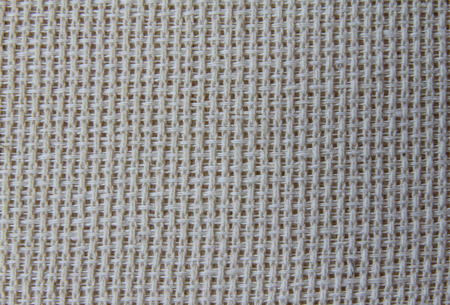 Natural linen fabric for embroidery  ivory photo