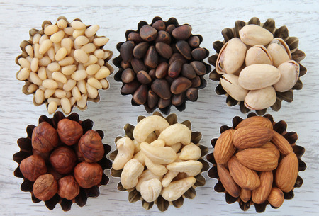 durability: Abstract image of different types of nuts