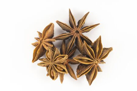 anise: Star Anise on a white background Stock Photo
