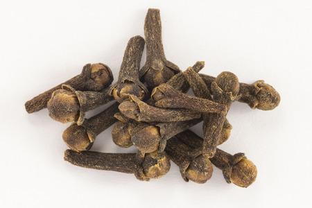 Cloves (spice) on white background