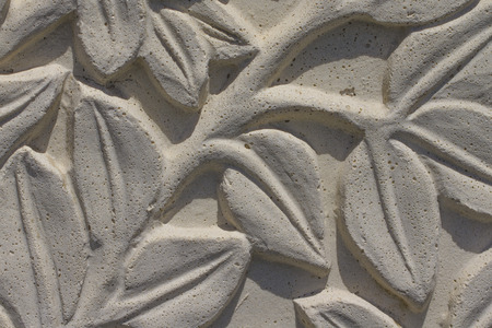 imitations: Stone wall imitation of cement - close-up