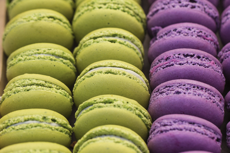 Abstract view of macaroons in two colors