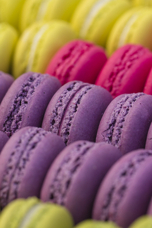 Abstract view of macaroons in four colors