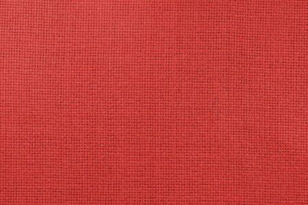 Natural linen fabric for embroidery (photo is toned in grenadine) Archivio Fotografico - 98176746