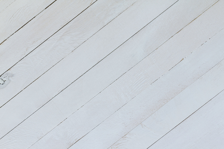 Abstract background of light wood plywood structure. Top view. Empty template. Painted in white color. Stock Photo