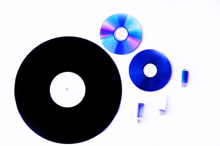 cds: vinyl, CDs, flash cards