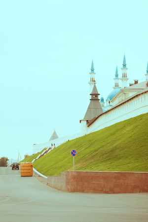 kazan: Kazan Kremlin fortress wall Editorial