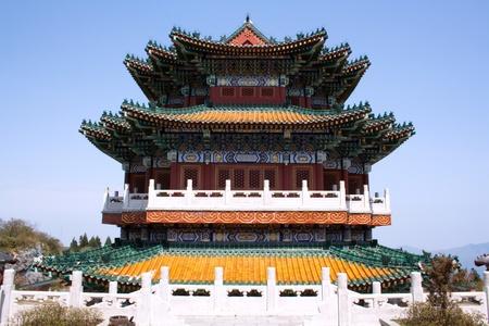 Buddhist temple on Mount Heaven Zhangjiajie, Hunan Province, China