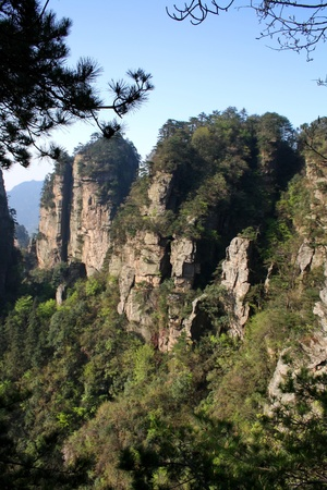 Mountains of Zhangjiajie, Hunan Province, China Stock Photo