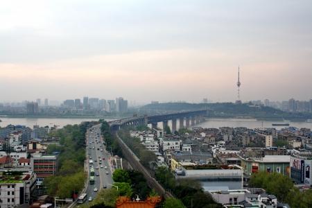 yangtze: First bridge across the Yangtze River  Wuhan  China