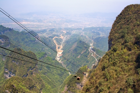 View from the Heavenly Mountains. Zhangjiajie. China is.