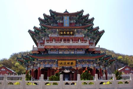 Buddhist temple on the Heavenly Mountain. Zhangjiajie. China is.