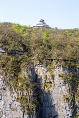 Op de Hemelse Berg. Zhangjiajie. China is.