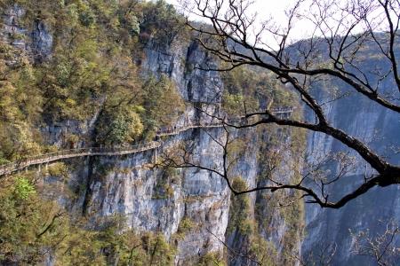 At the Heavenly Mountain. Zhangjiajie. China is.