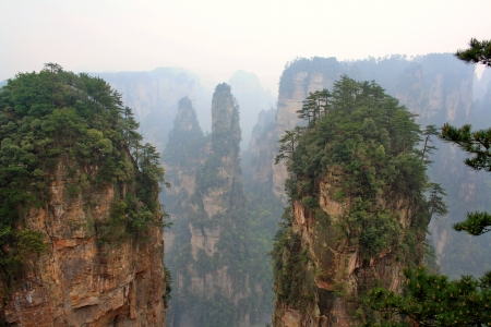 Foggy mountains of Zhangjiajie, Hunan Province, China