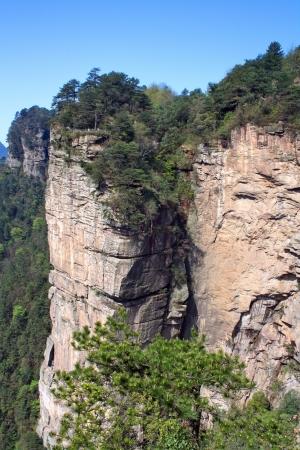 Mysterieuze Mountain Zhangjiajie De provincie Hunan China is Stockfoto