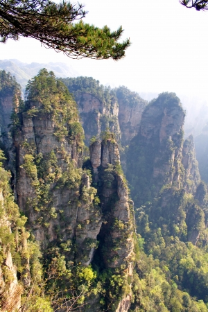 Mysterious Mountain Zhangjiajie  The province of Hunan  China is