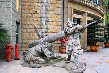 Monument voor de schutters. Chongqing. China is.
